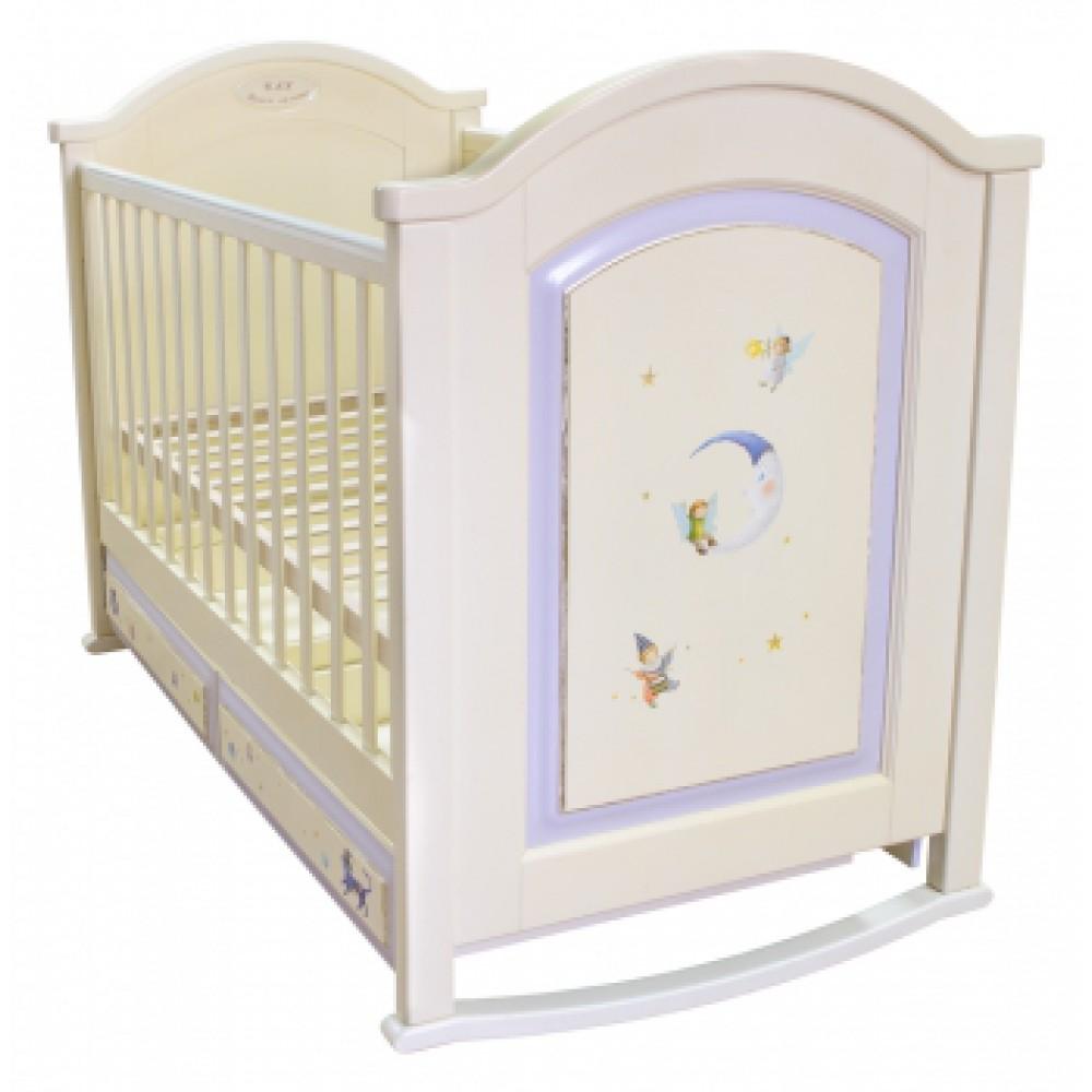 Детская кроватка с росписью Эльфы