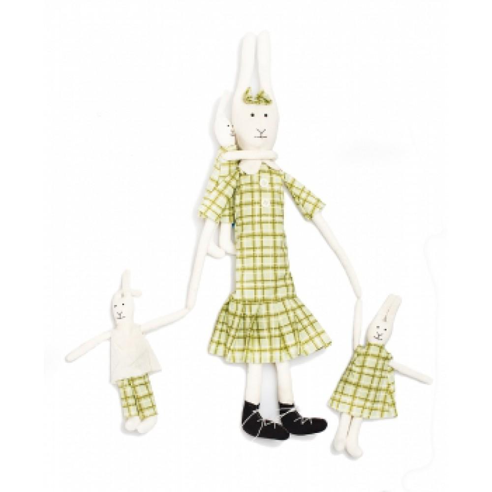 Авторская игрушка О.Ярмольник Зайчиха Мама с детьми