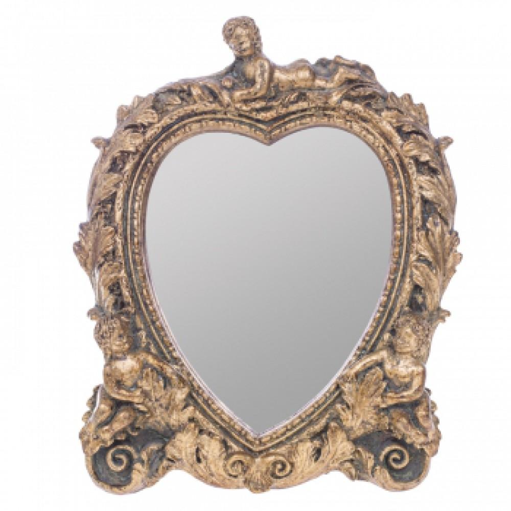 Зеркало настольное Италия Золотые ангелы