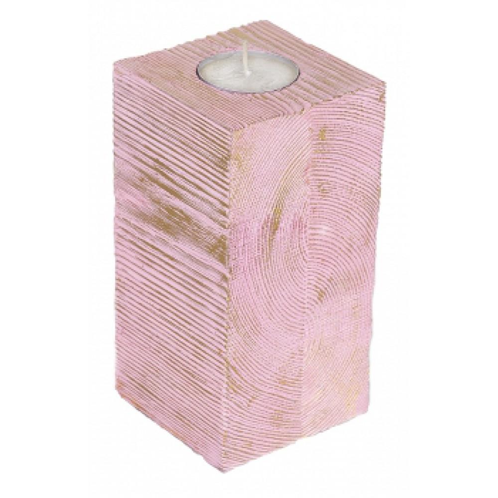 Подсвечник Розовый высокий