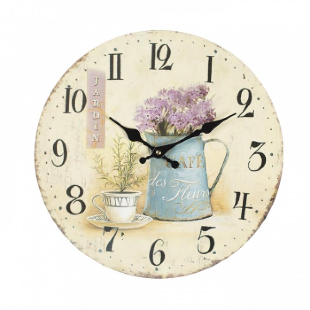 Часы настенные Добрый день Лаванда
