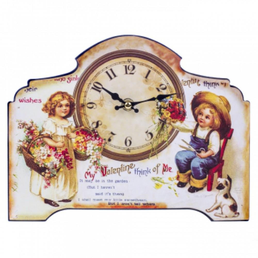 Часы настольные Открытка Дети