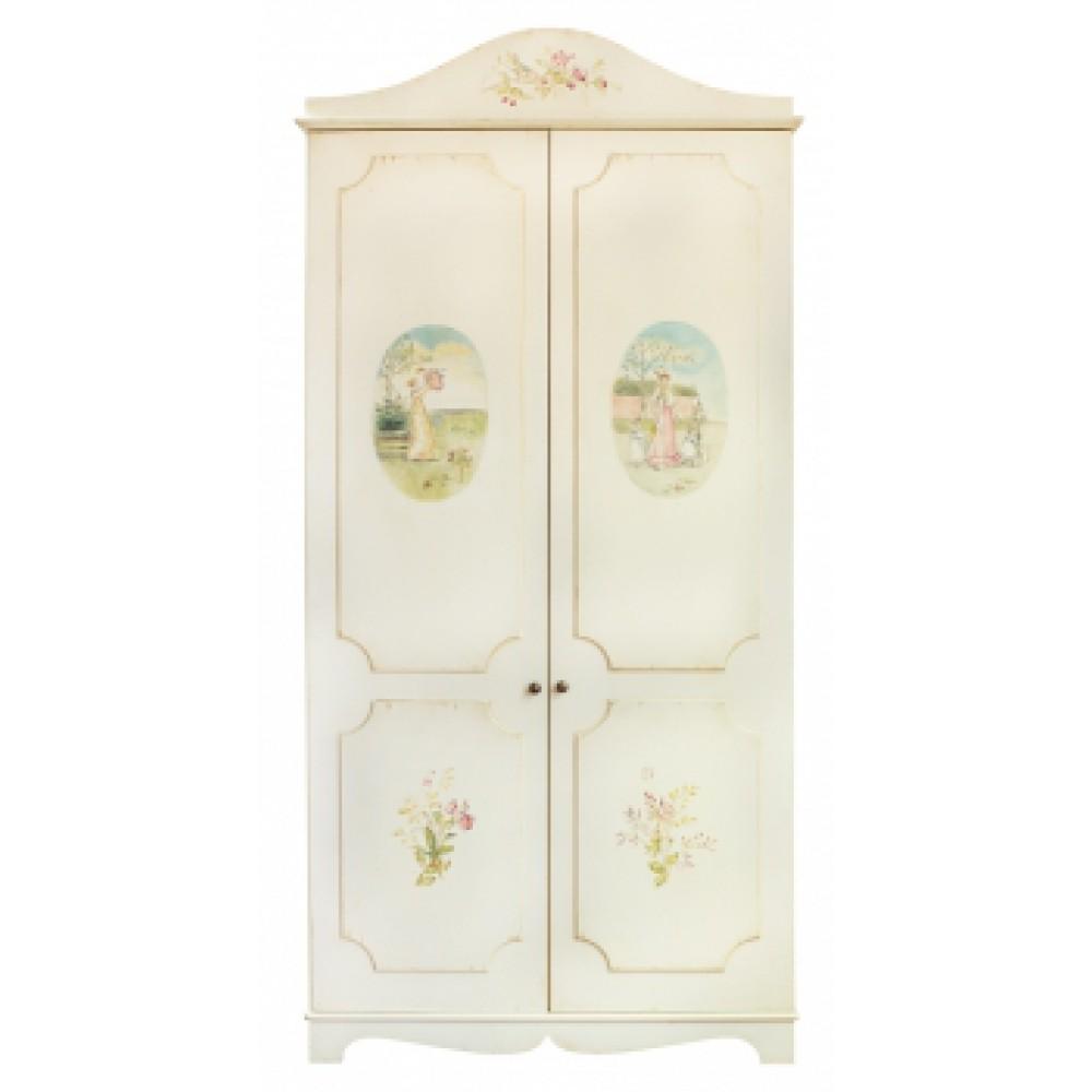 Шкаф с росписью Викторианский