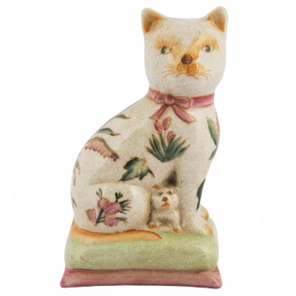 Фигурка Кошка с котенком
