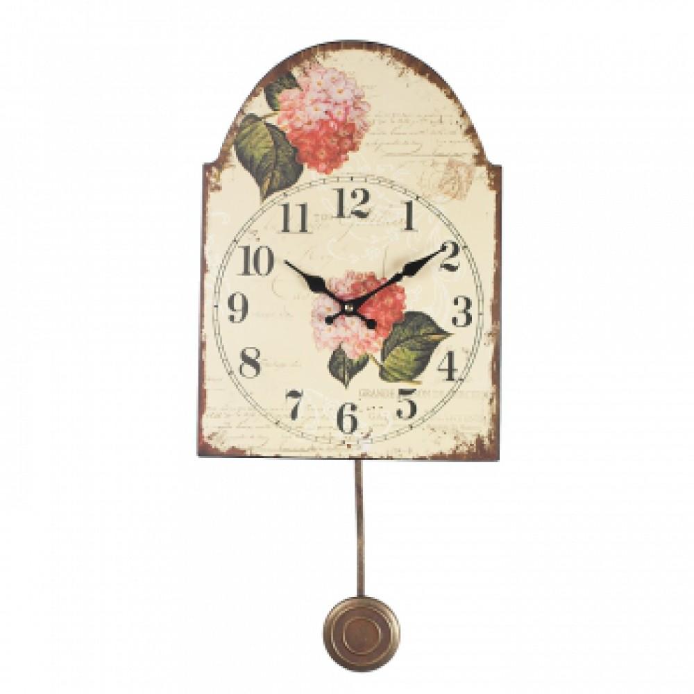 Часы с маятником Флора Гортензия