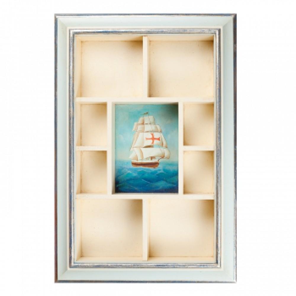 Полочка для мелочей с росписью Корабль