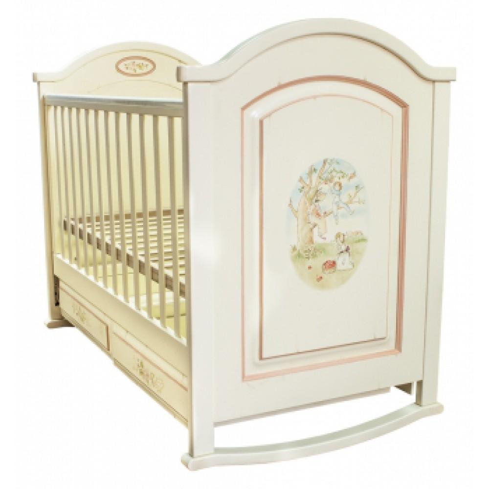 Детская кроватка с росписью Викторианская