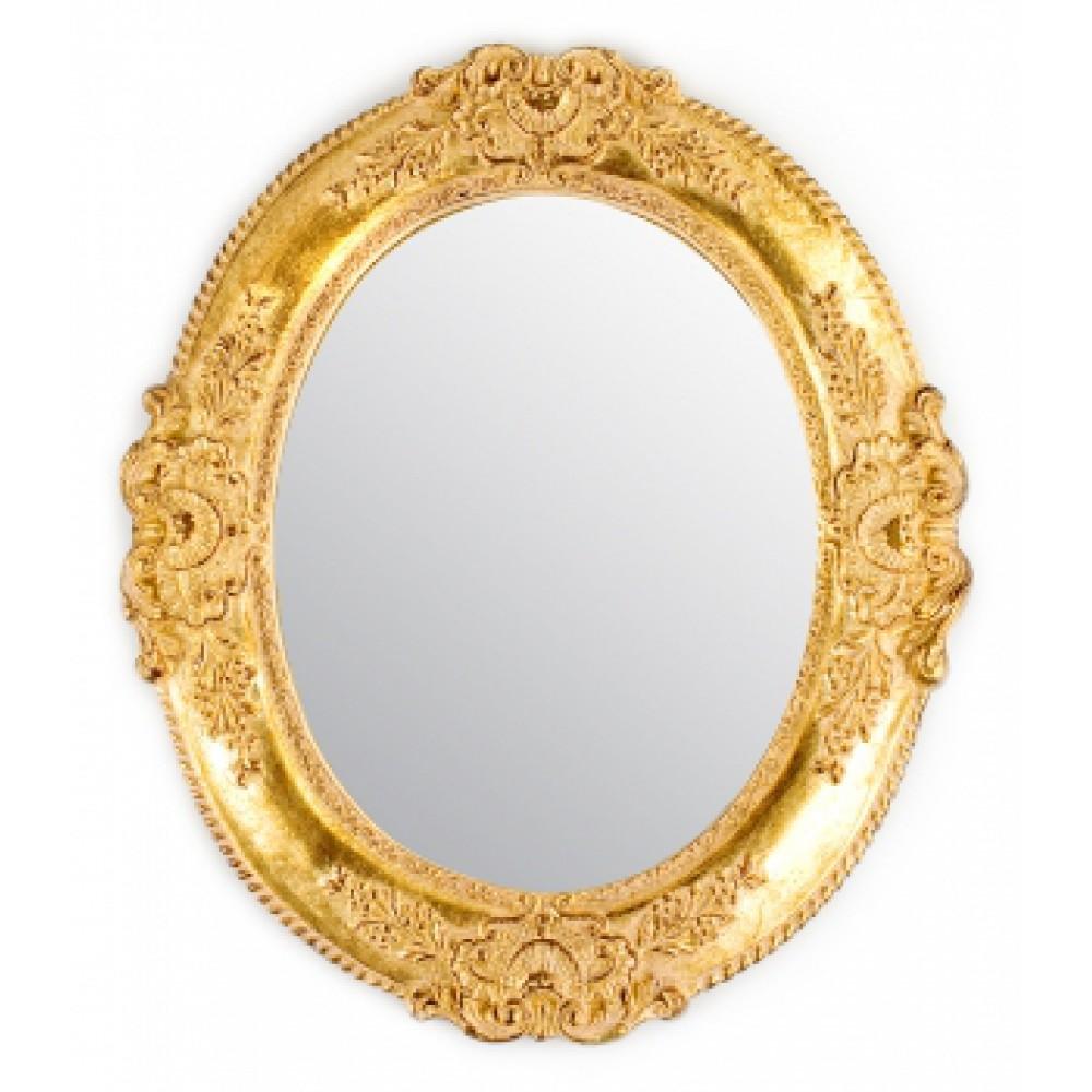 Зеркало в раме Италия Золотые цветы