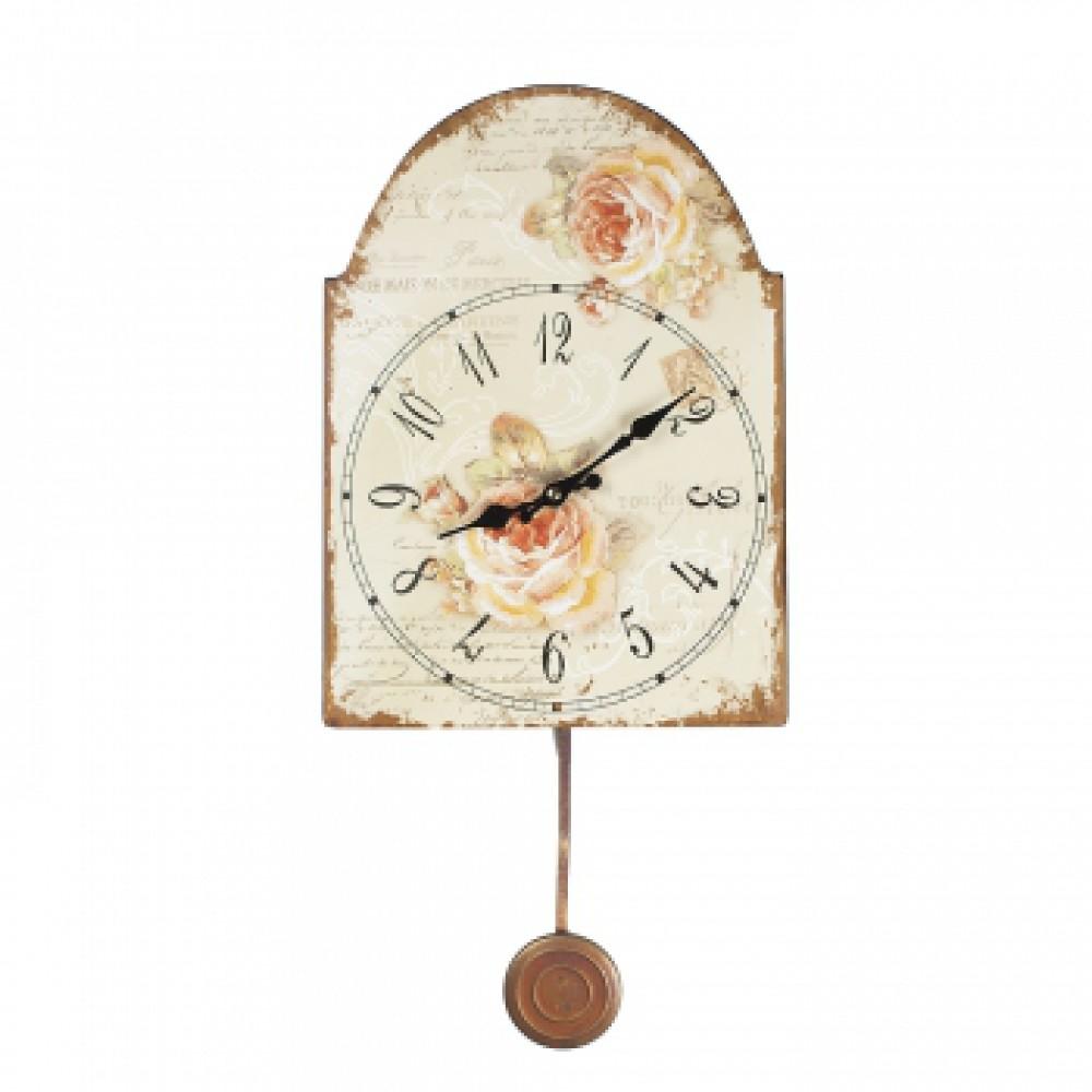 Часы с маятником Флора Розы