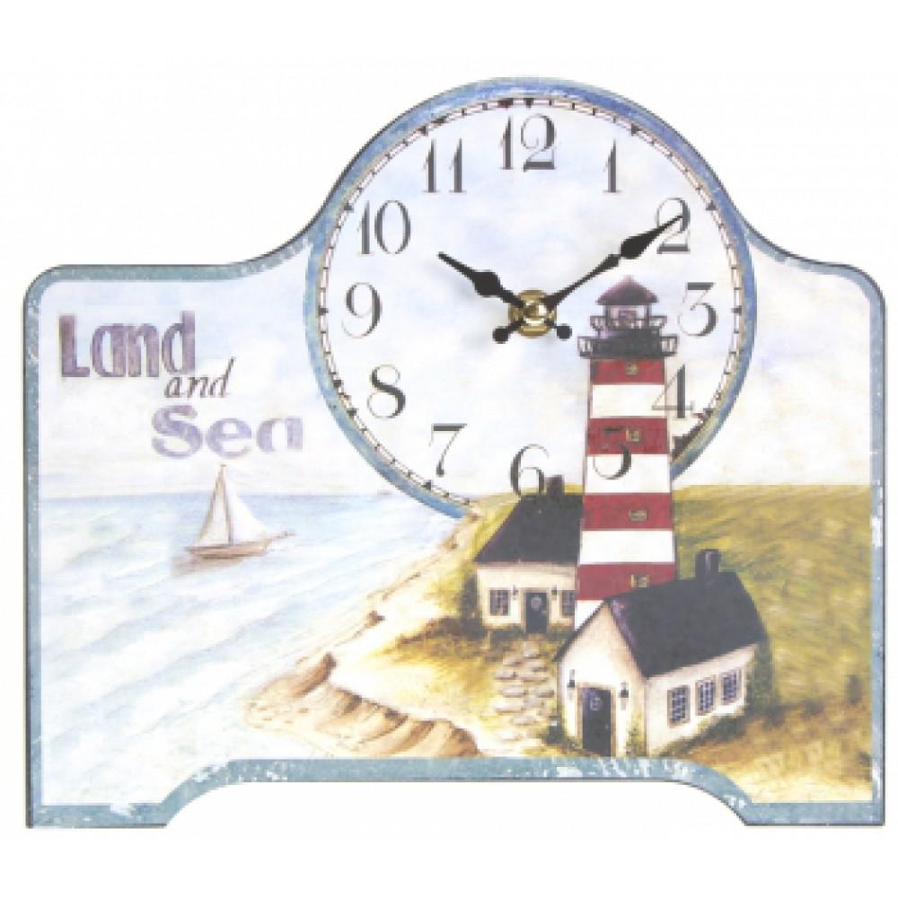 Часы настольные Открытка маяк