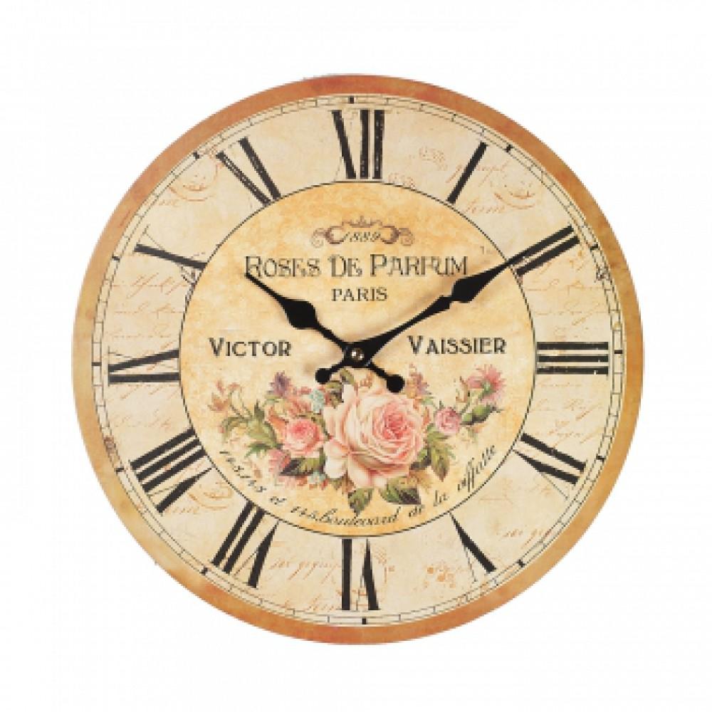 Часы настенные Добрый день Розы