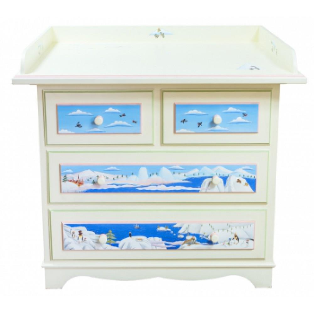 Пеленальный стол для комода с росписью Путешествие