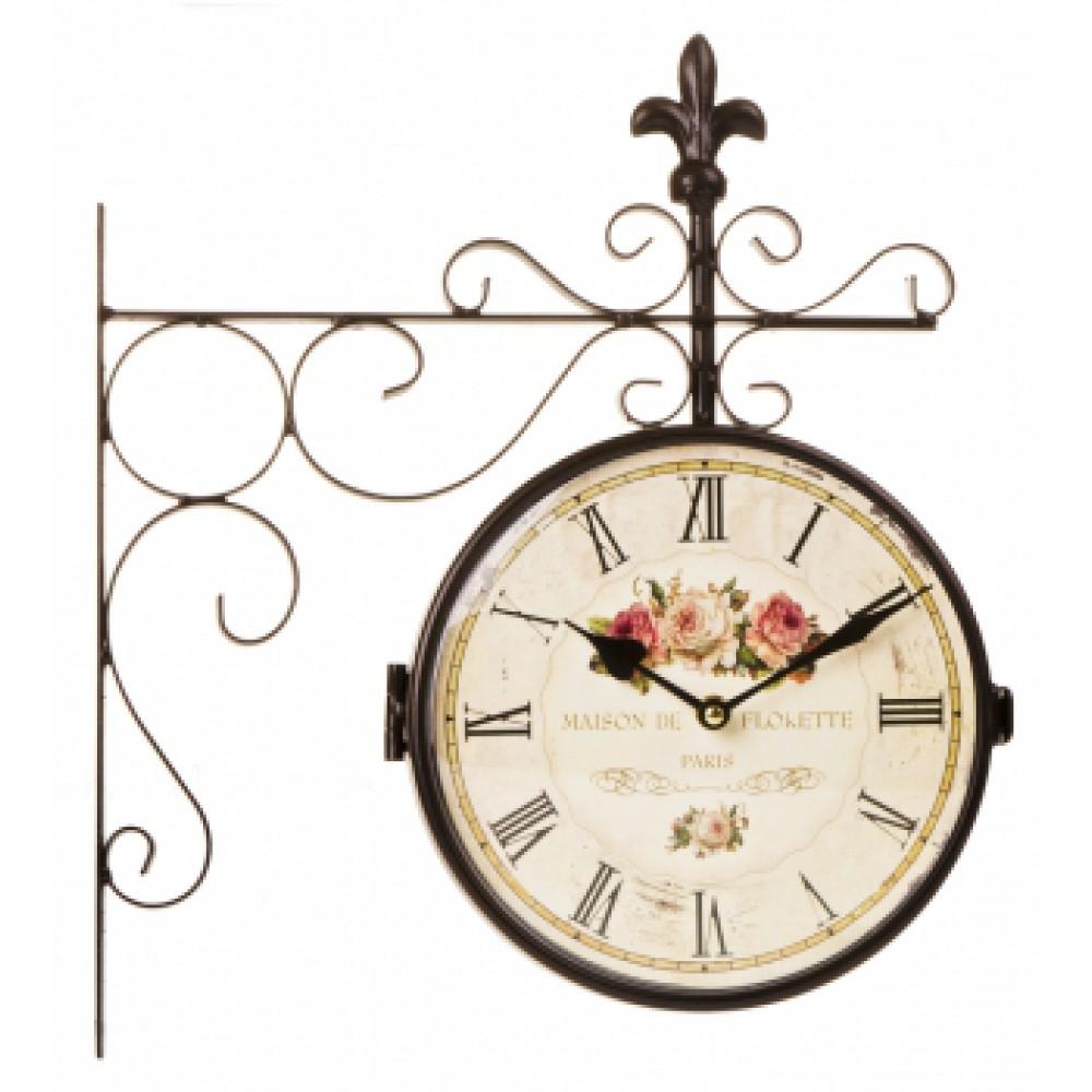 Часы настенные Париж Розы