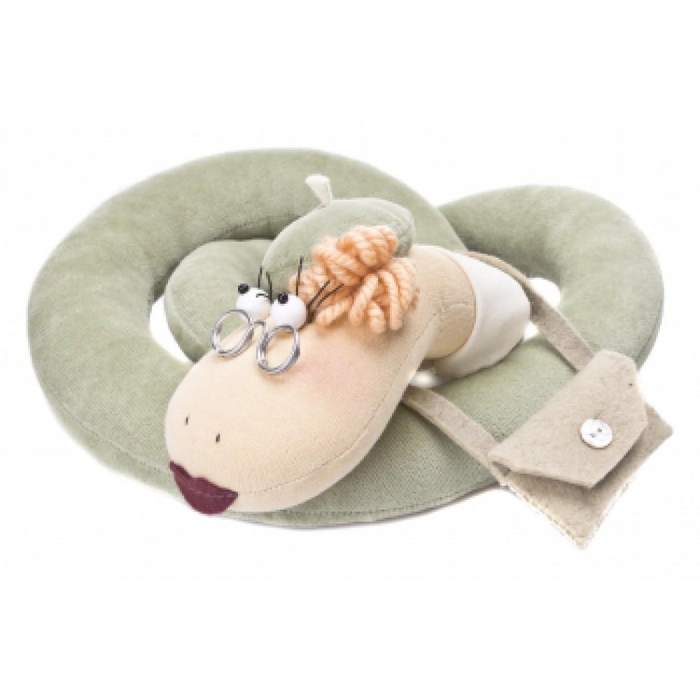 Авторская игрушка О.Ярмольник Змея с сумочкой