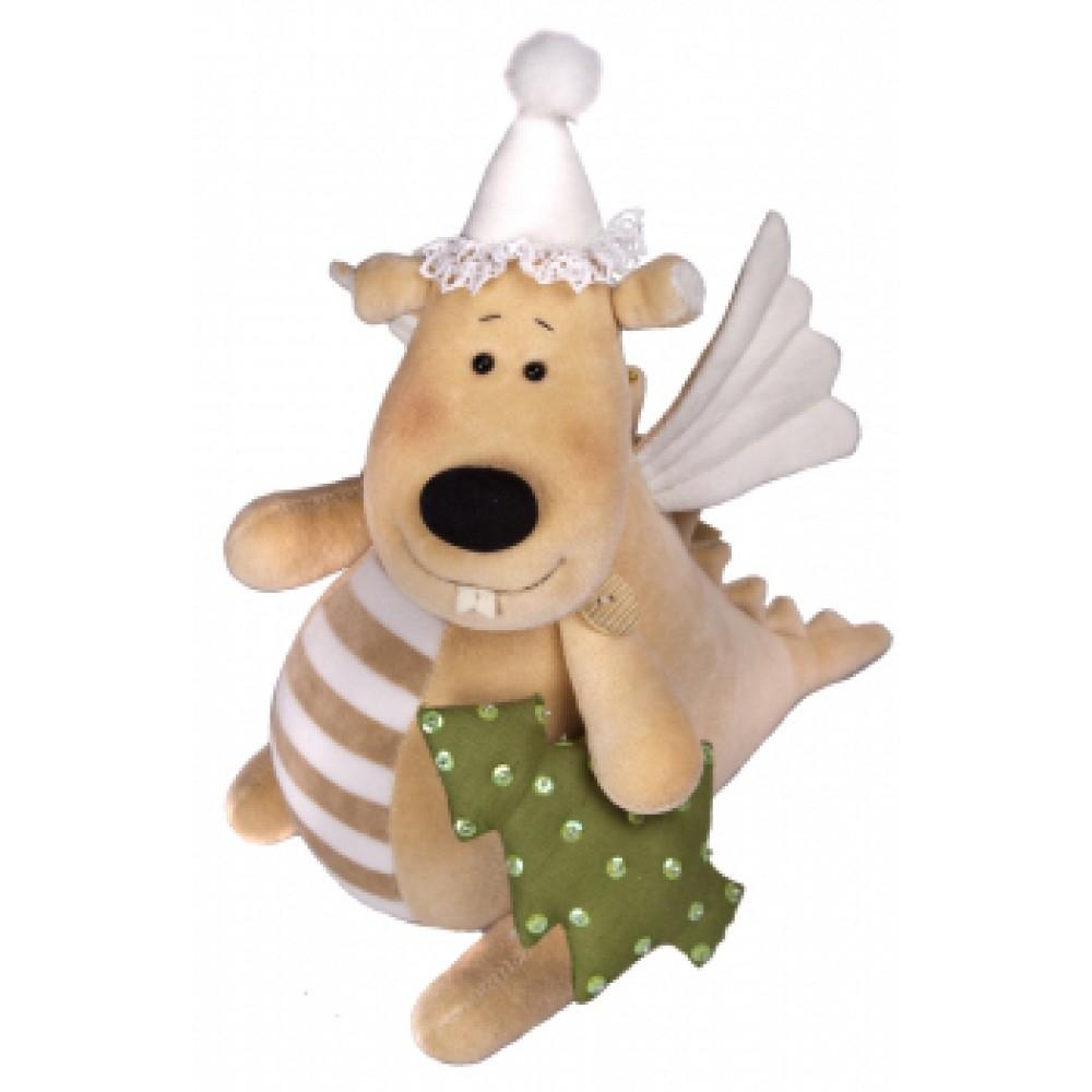 Авторская игрушка О.Ярмольник Дракоша с елочкой большой