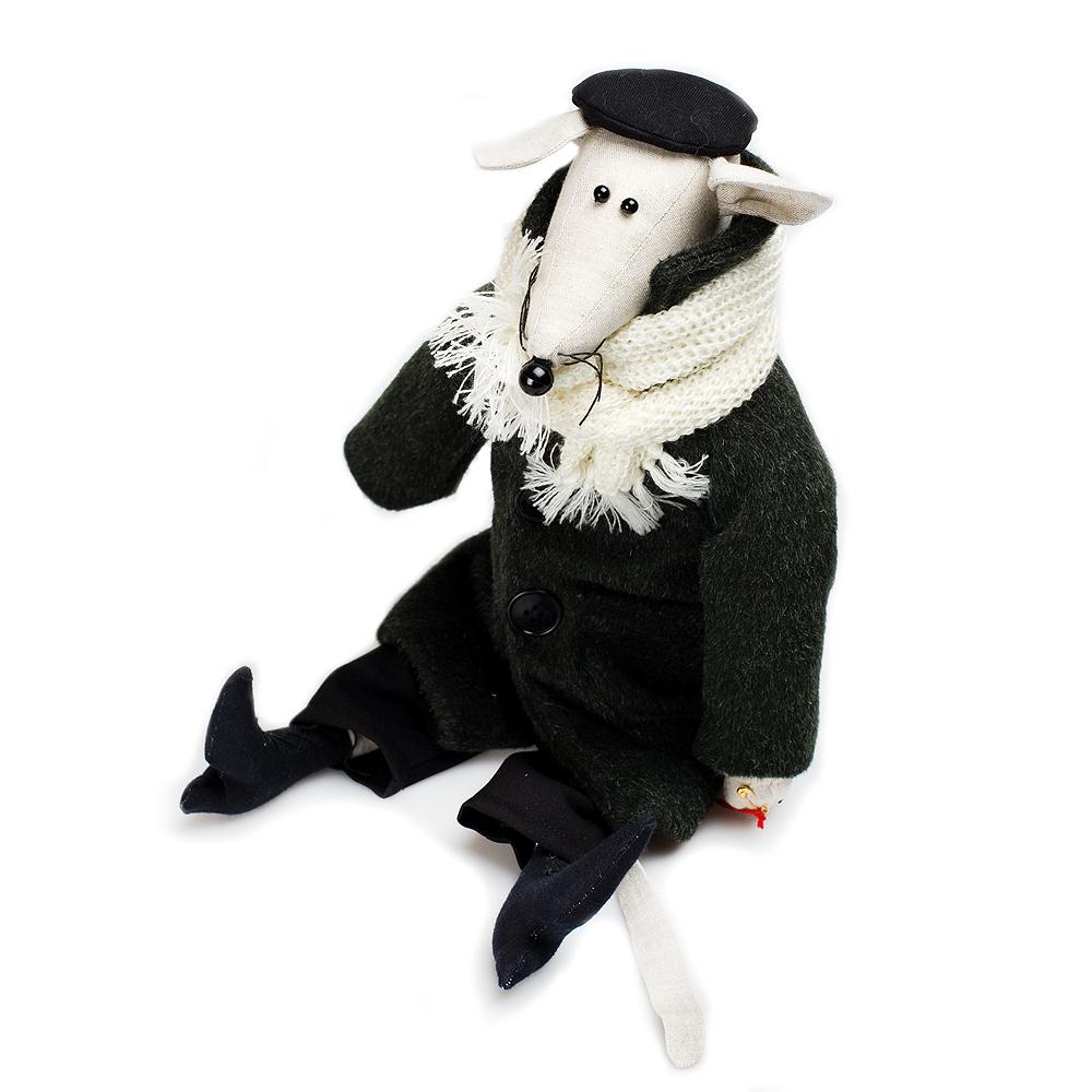 Авторская игрушка О.Ярмольник Мышь Интеллигентная мальчик