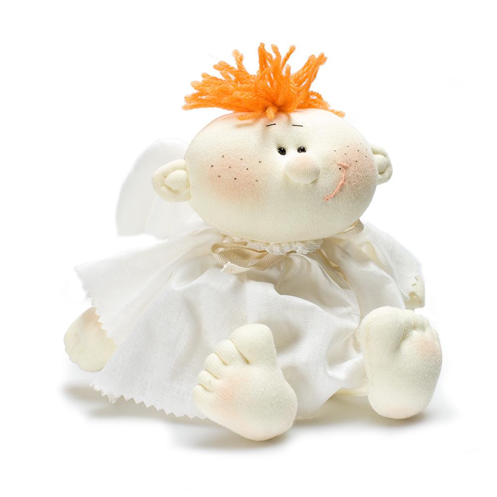 Авторская игрушка О.Ярмольник Ангел в платье мальчик