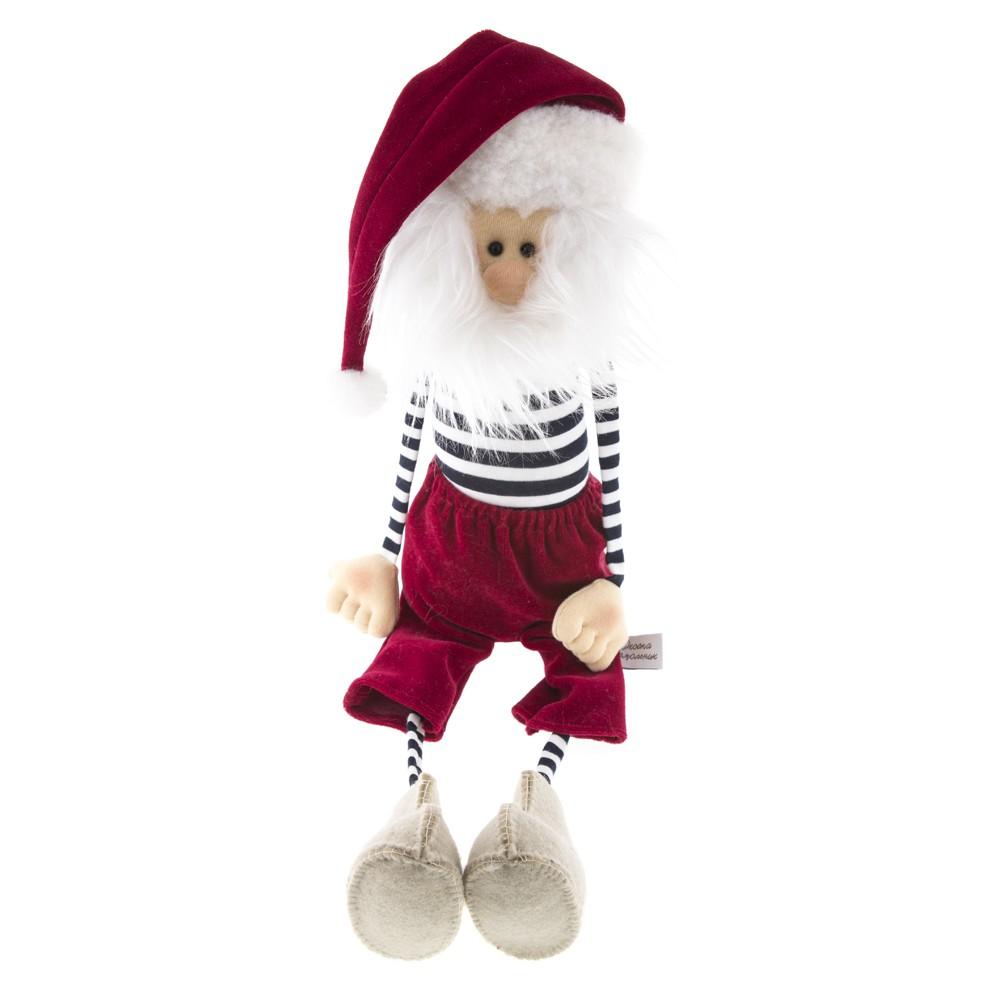 Авторская игрушка О.Ярмольник Дед Мороз в тельняшке