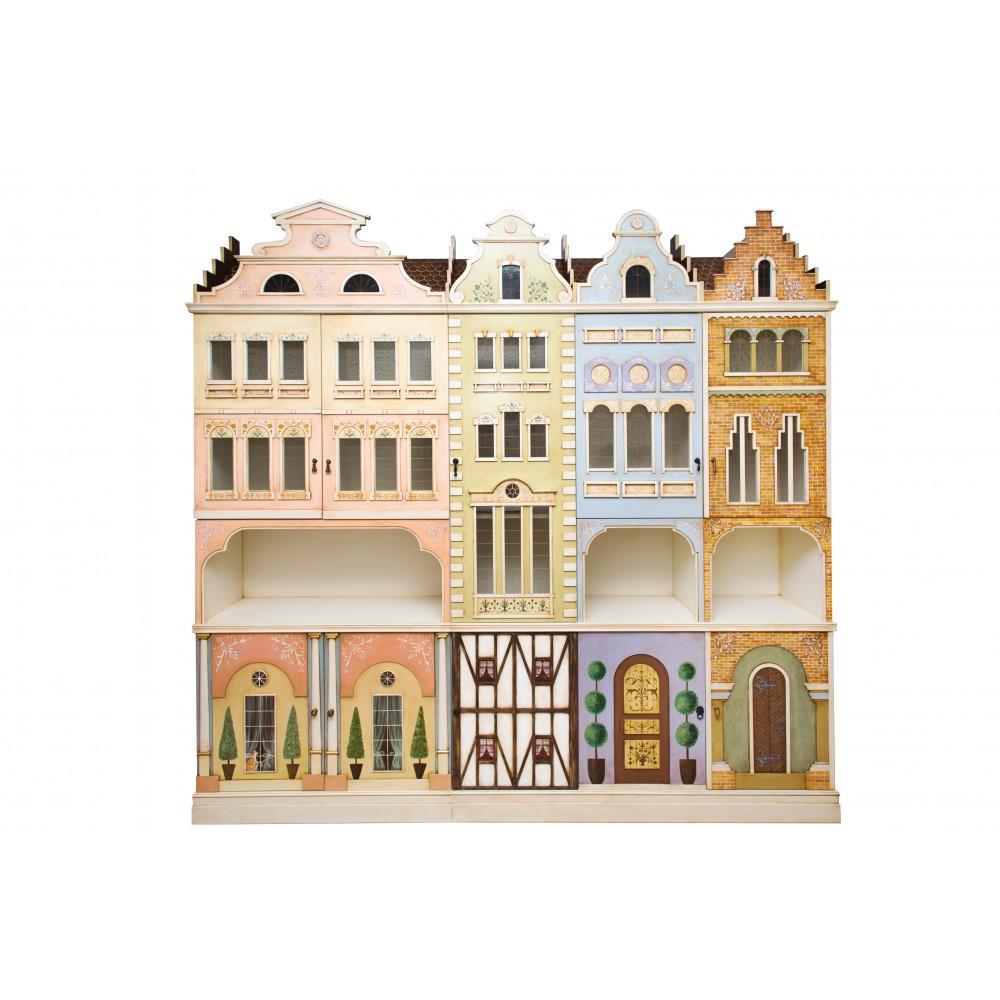 Шкаф с росписью Городок
