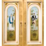 Шкаф с росписью Пушкинский золотой