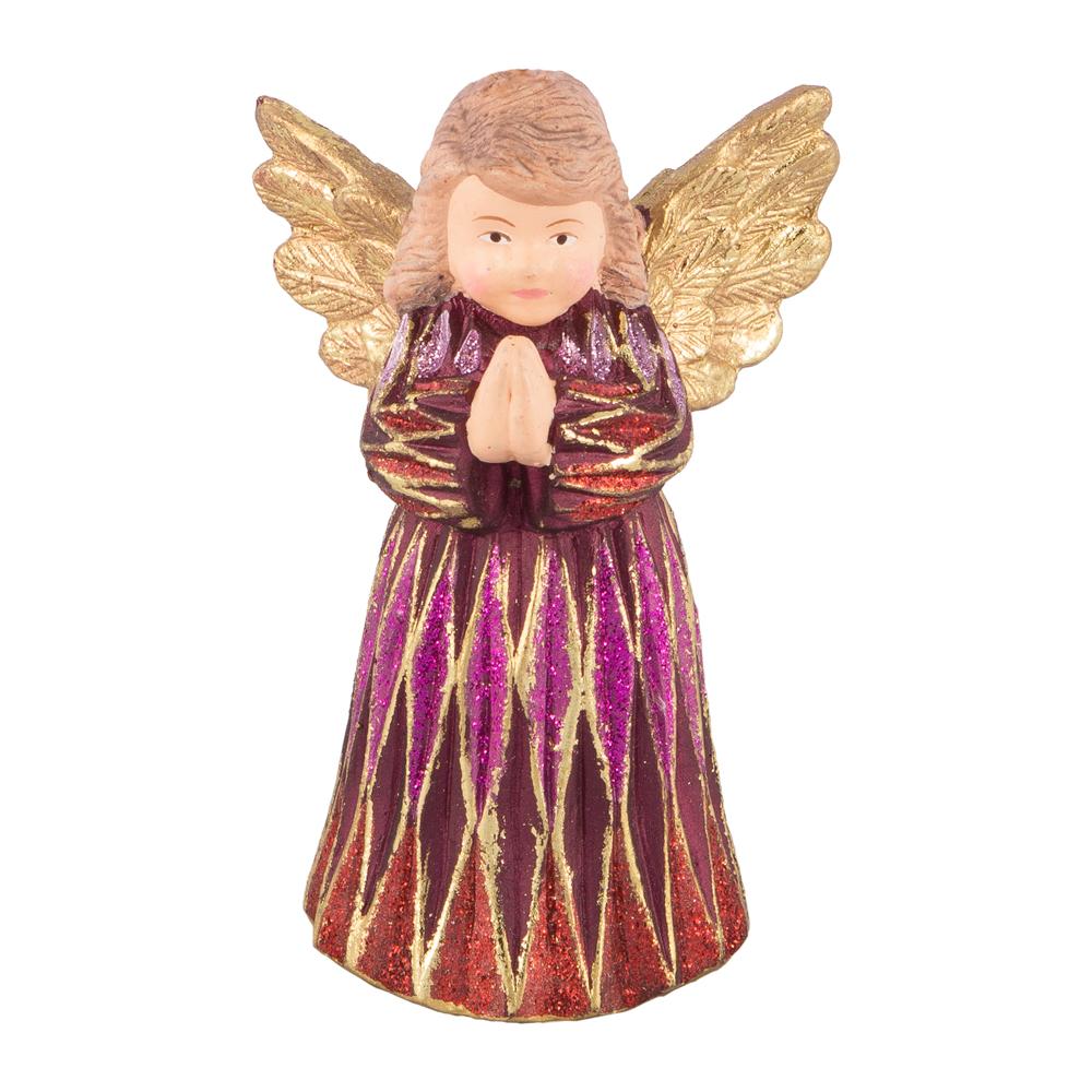 Ёлочная игрушка Ангел красный