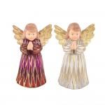 Ёлочная игрушка Ангел серебро