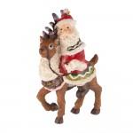 Ёлочная игрушка Дед Мороз на олене