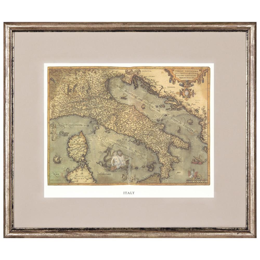 Постер в раме Античные карты 01