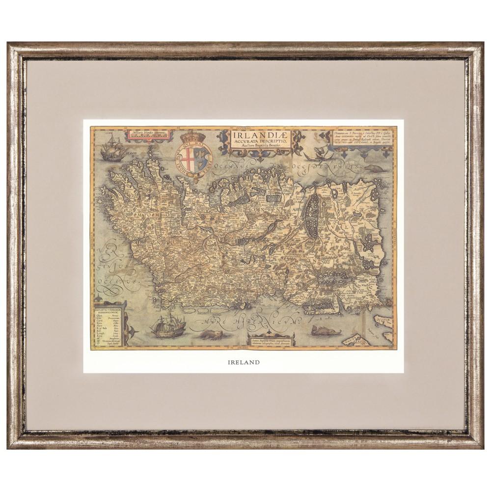 Постер в раме Античные карты 10