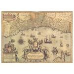 Постер в раме Античные карты 05