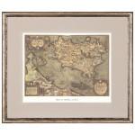 Постер в раме Античные карты 06