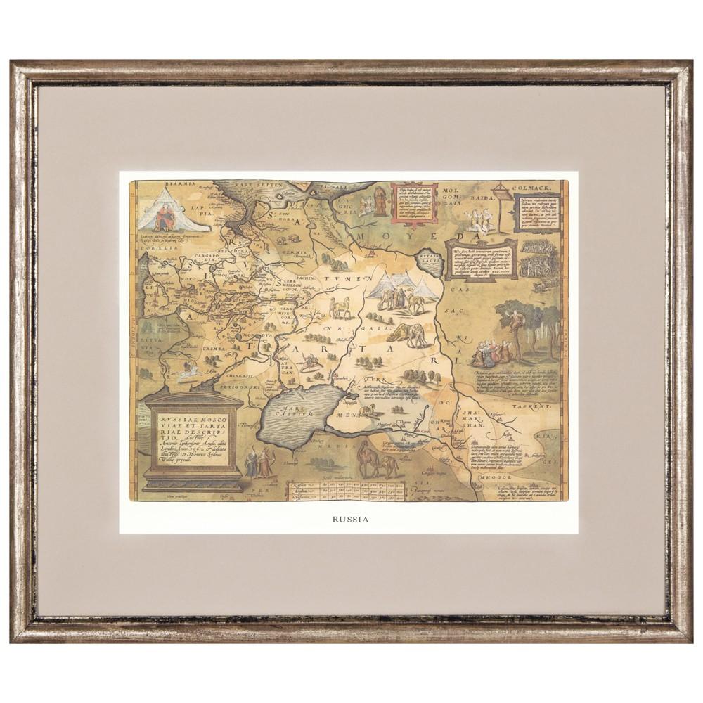 Постер в раме Античные карты 07