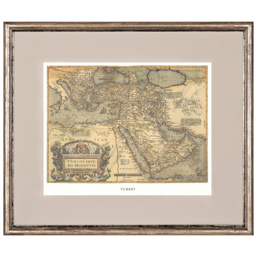 Постер в раме Античные карты 08