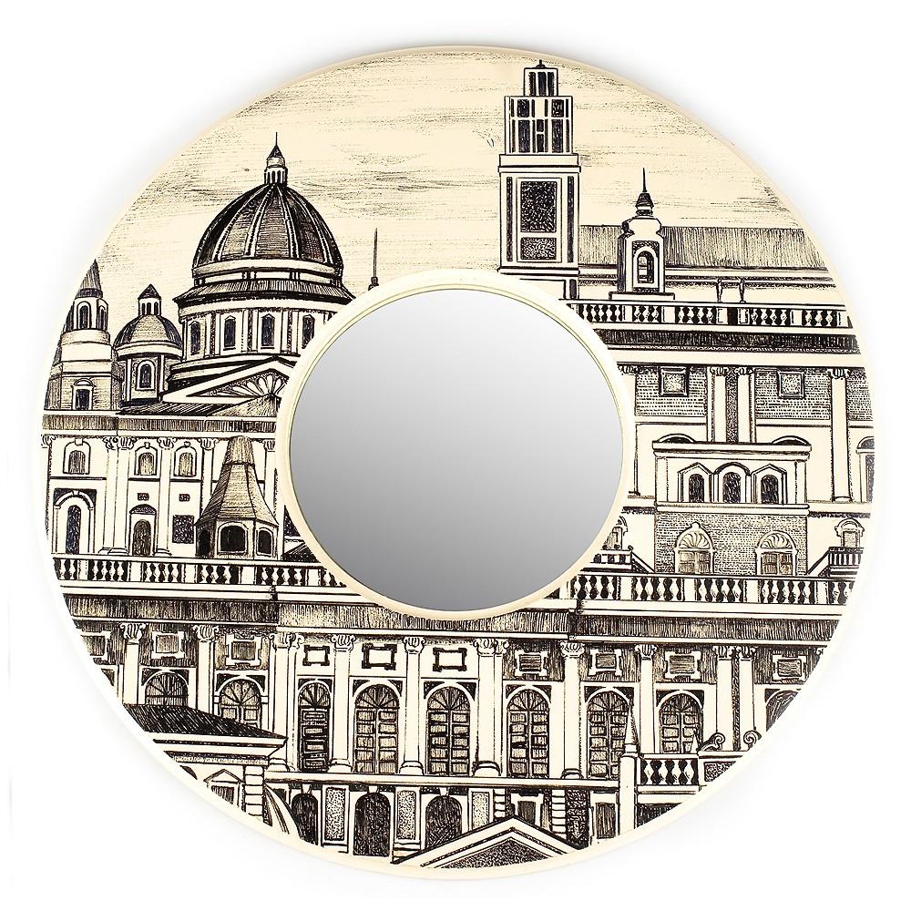 Зеркало с росписью Город