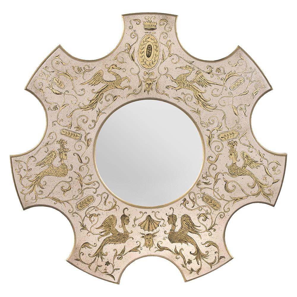 Зеркало с росписью Волшебные птицы