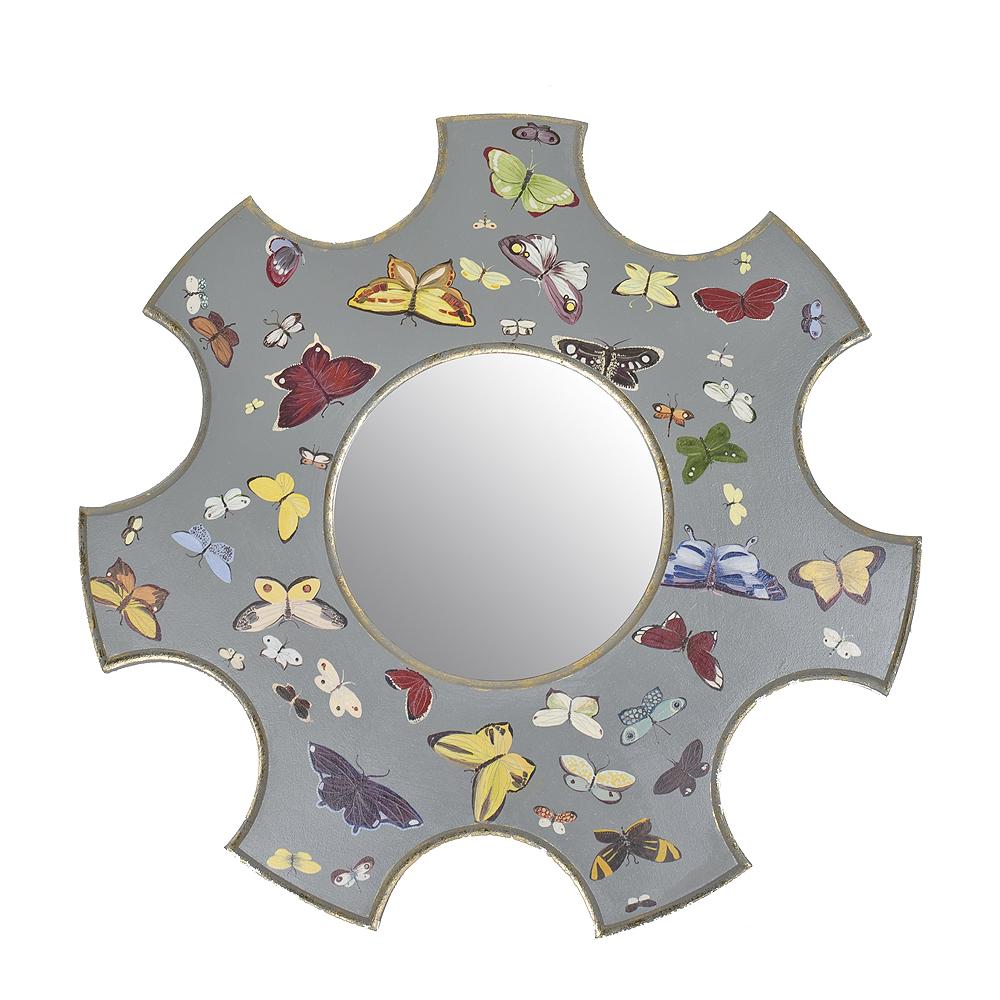 Зеркало с росписью Бабочки
