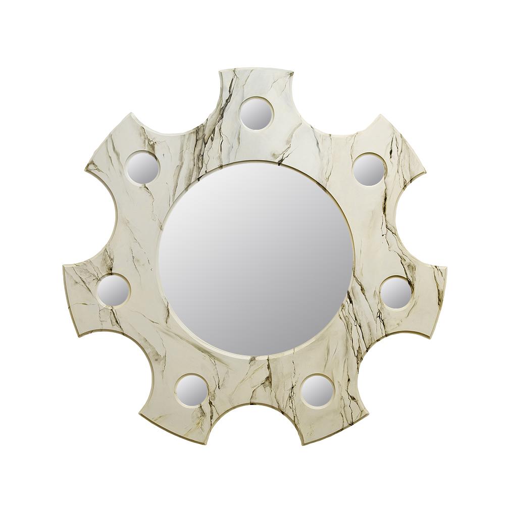 Зеркало с росписью Мрамор белый