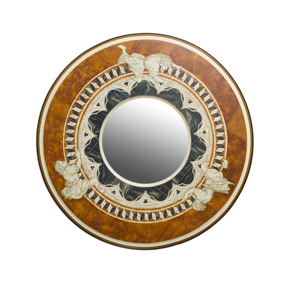 Зеркало с росписью Сиена