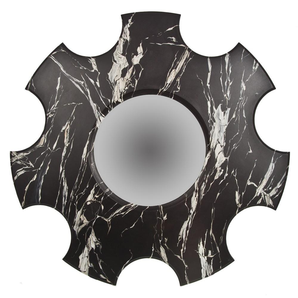Зеркало с росписью Мрамор черный