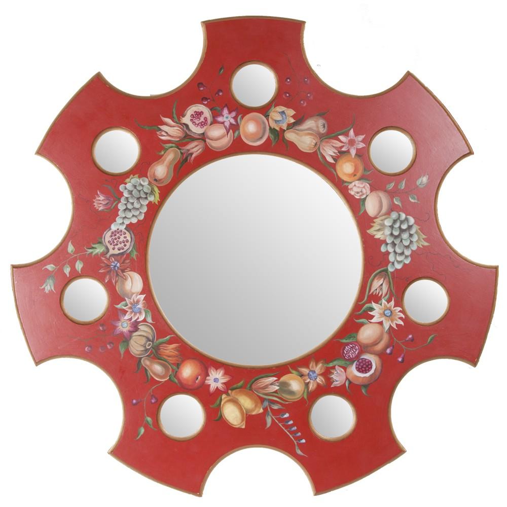 Зеркало с росписью Натюрморт на красном
